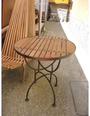 Tavolo Ferro e Legno per esterno COLC0534 - Orissa Milano