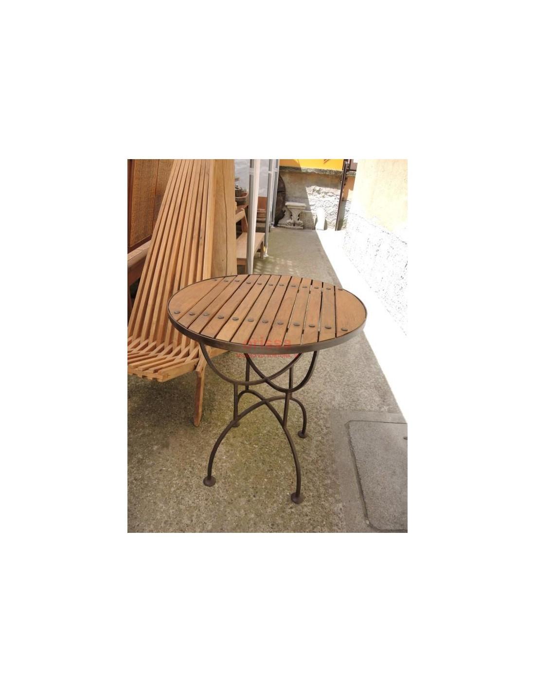 Tavolo Ferro e Legno per esterno COLC0534 - Orissa Mobili ...
