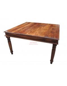 Tavolo quadrato in legno massello di sheesaam