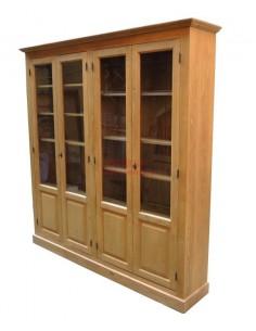 Vetrina Libreria in legno massello