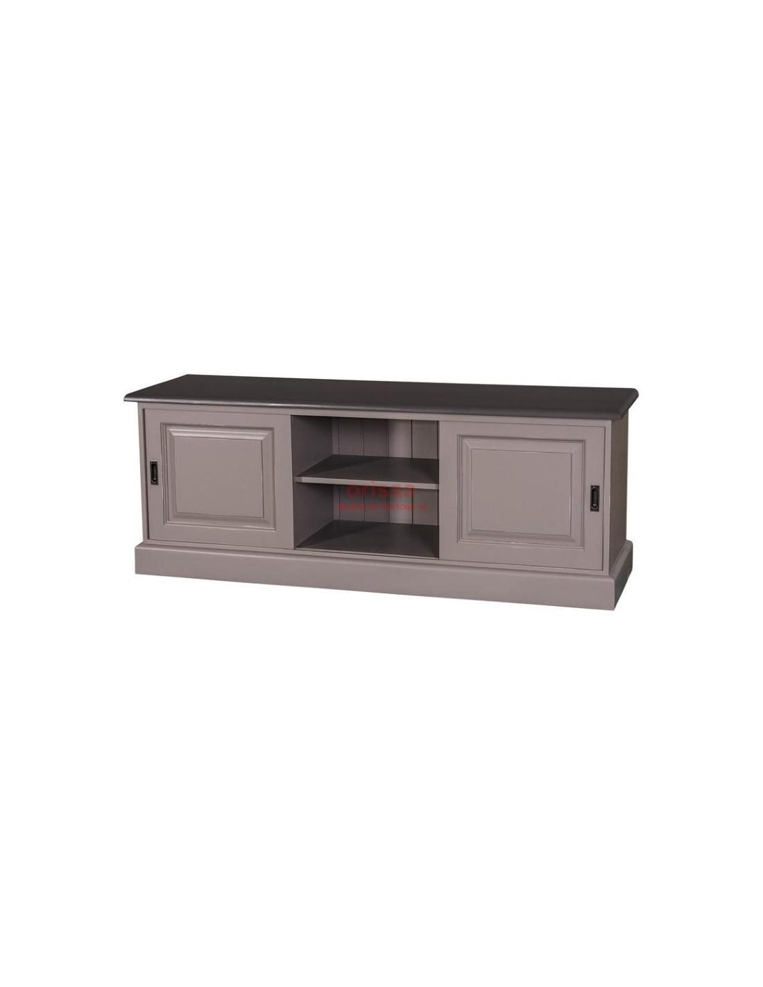 Mobile porta tv con ante scorrevoli legno massello - Porta tv in legno ...