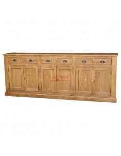 Buffet 240 legno massello colorato shabby chic o provenzale