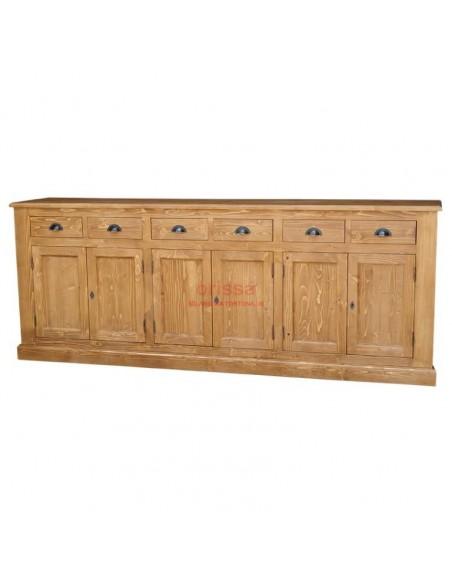 Buffet 240 legno massello colorato shabby chic o provenzale