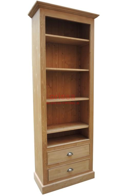 libreria aperta in legno massello shabby chic, colorata, provenzale ...