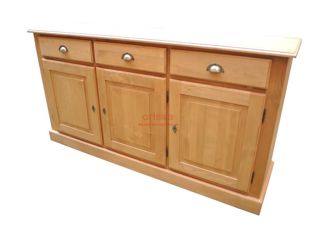 Credenza Con Cassetti Colorati : Credenza bassa legno massello shabby chic colorata provenzale
