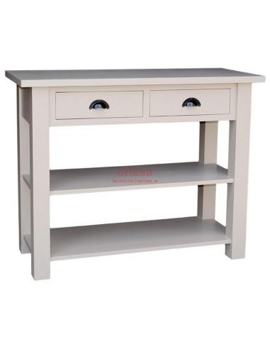 Consolle in legno massello con 2 cassetti oms141 orissa for Consolle con cassetti