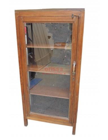 vetrinetta in legno di teak stile inglese F0038 - Orissa Milano