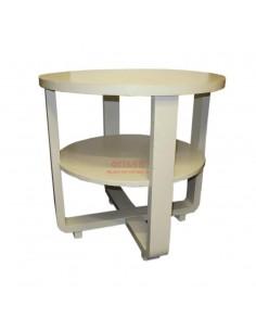 Imagén: Tavolo rotondo bianco decapato