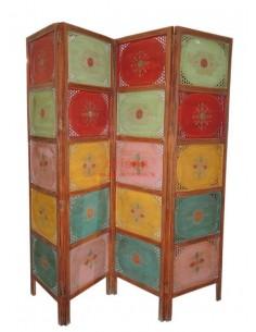 Imagén: Paravento separè in legno colorato decorato