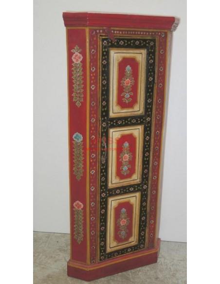 Angoliera etnica rossa decorata