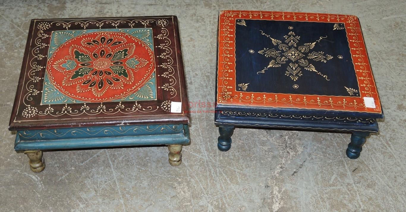 Tavolino Etnico Salotto.Tavolino Etnico Decorato