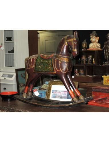 Cavallo A Dondolo In Legno.Cavallo A Dondolo Legno Colorato F4181 Orissa Milano