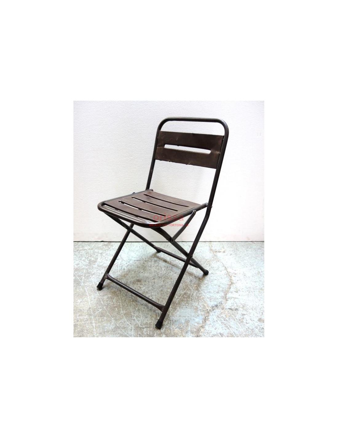 Sedie In Ferro Pieghevoli.Sedia In Ferro Pieghevole Cole0182 Orissa Milano