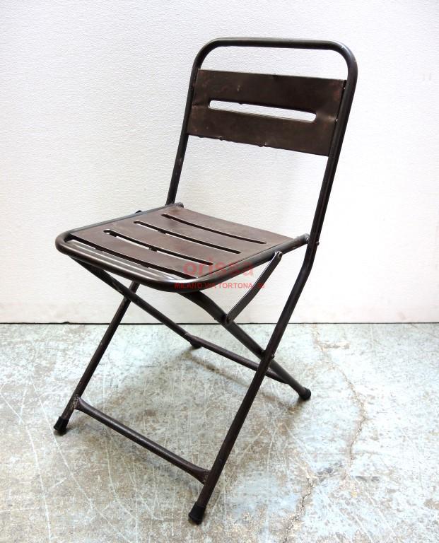 Sedie Pieghevoli In Ferro.Sedia In Ferro Pieghevole Cole0182 Orissa Milano