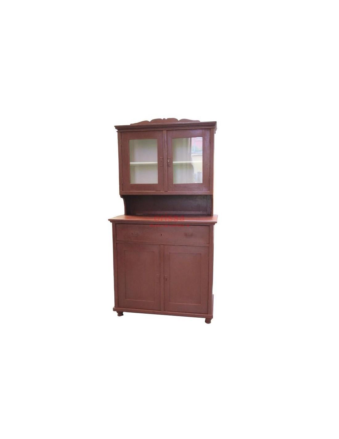 Credenza legno restaurata e colorata cx011 orissa milano for Credenza colorata