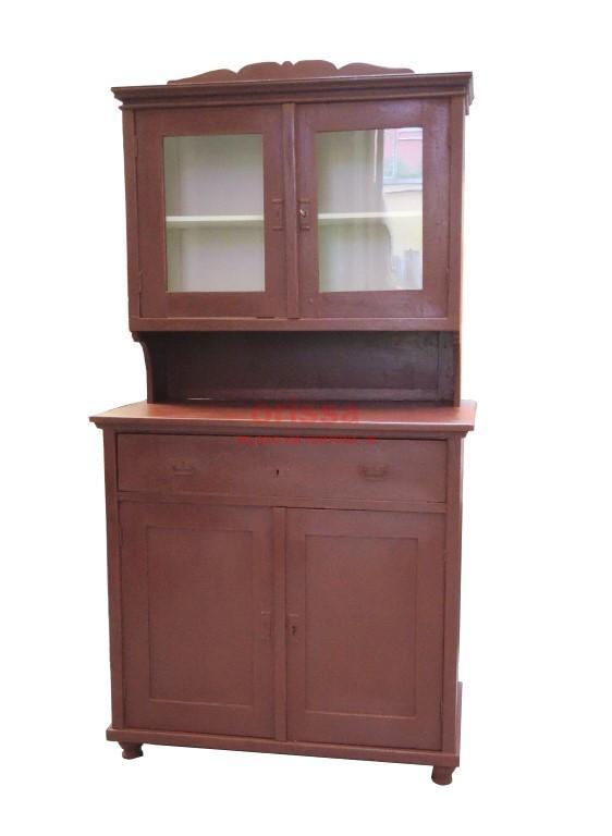 credenza legno restaurata e colorata CX011 - Orissa Milano