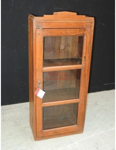 vetrinetta pensile coloniale in legno di teak G1208 - Orissa Milano