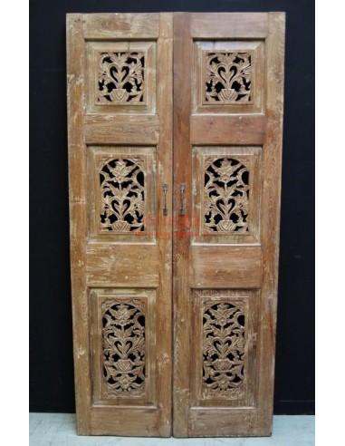 Coppia ante legno massello di teak