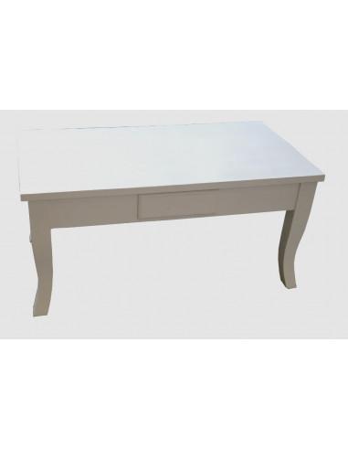 Tavolo salotto bianco decapato