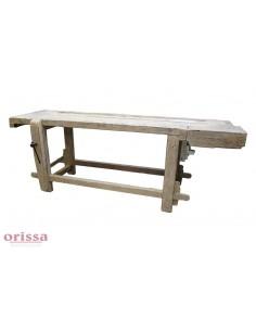 Tavolo da falegname bianco decapato cx028 orissa milano - Tavolo decapato ...