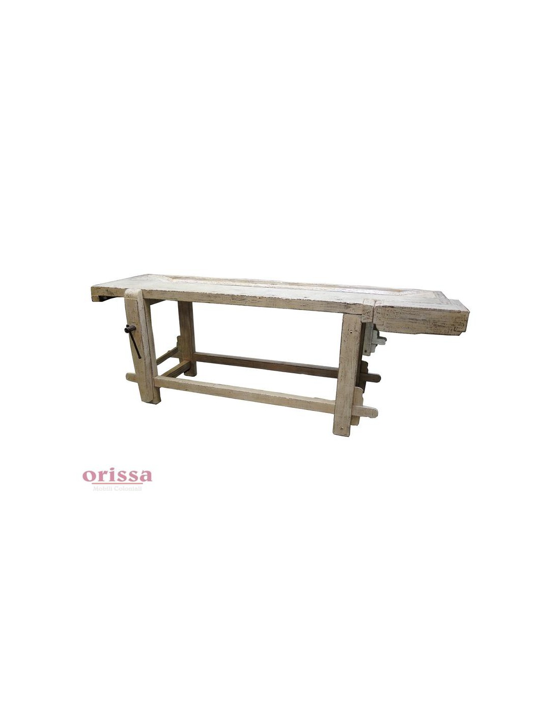 Tavolo da falegname bianco decapato cx028 orissa milano - Tavoli da falegname nuovi ...