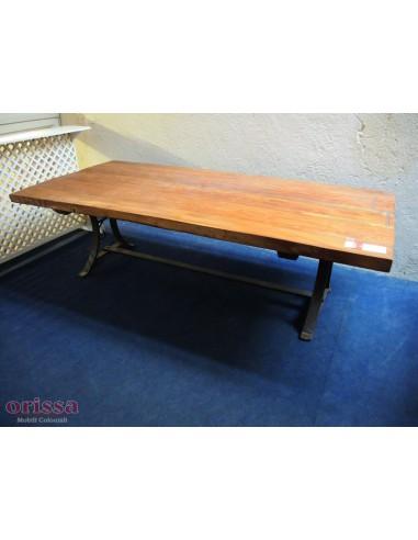 Tavolo salotto in legno e ferro
