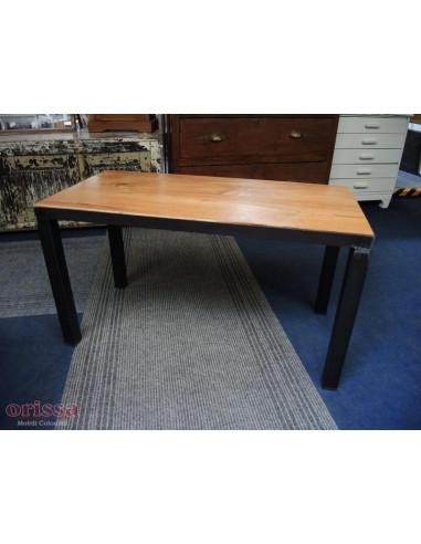 Tavolo salotto legno e ferro battutto
