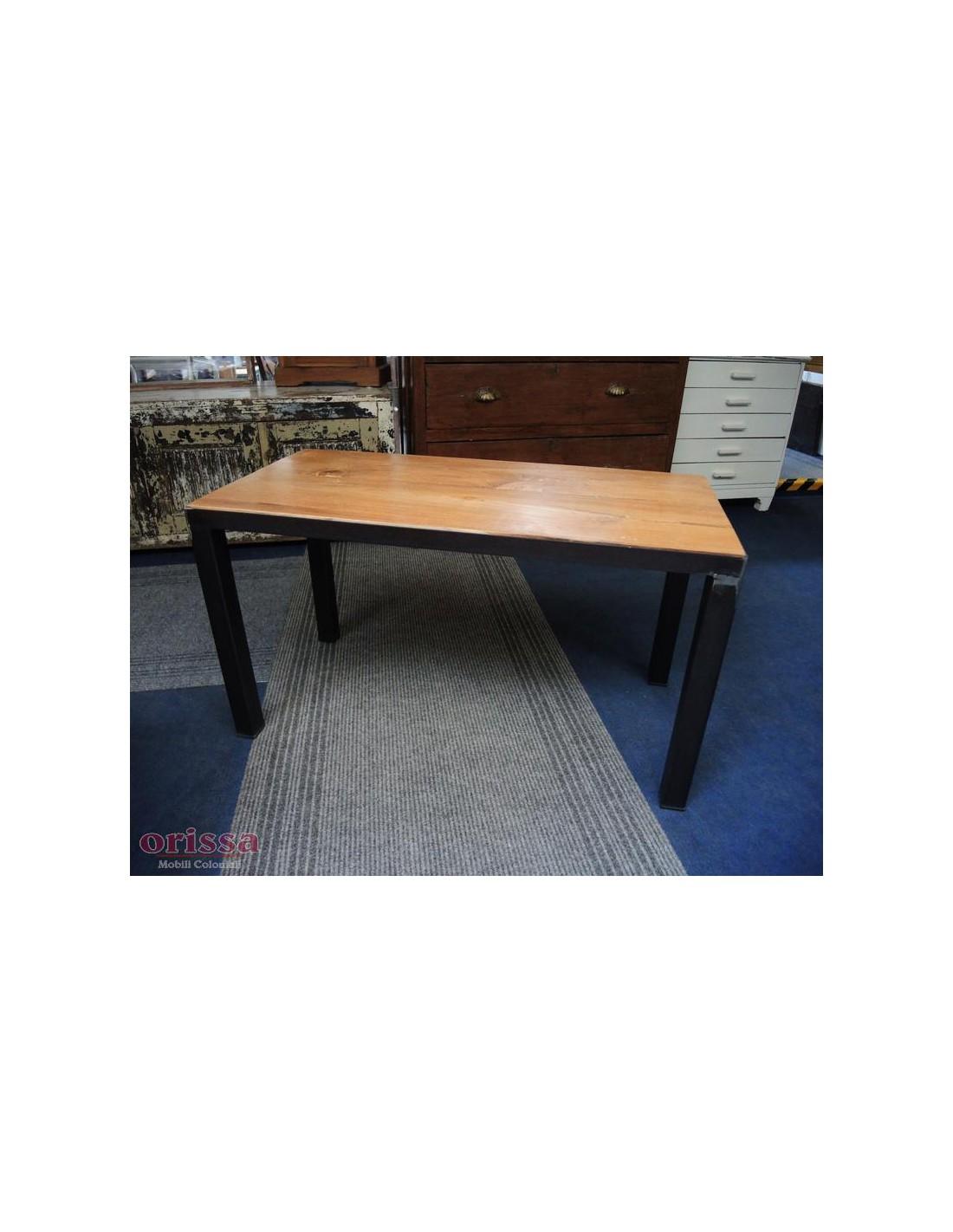 Tavolo salotto legno e ferro battutto cx034 orissa milano - Tavolo legno e ferro ...