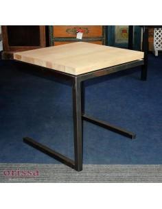Tavolino ferro e legno