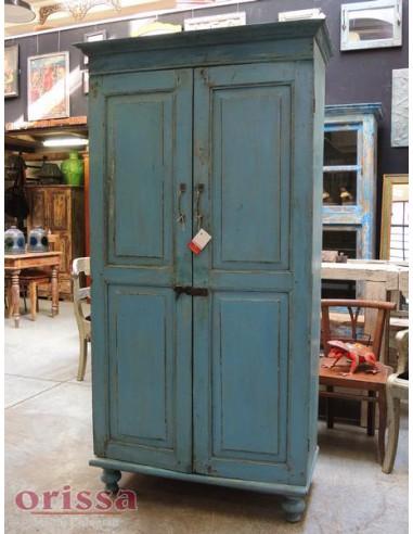Armadio azzurro legno massello