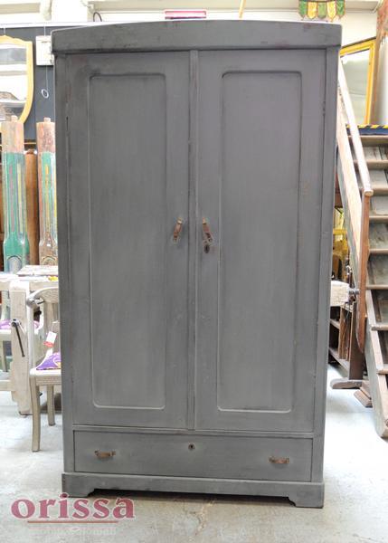 Armadio legno colorato grigio shabby U002 - Orissa Milano