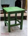 Sgabello legno colore verde