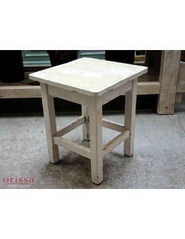 Sgabello legno colore bianco