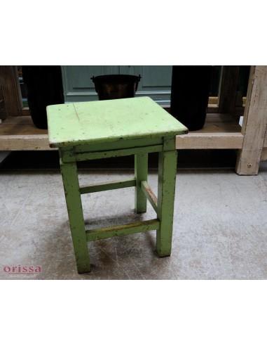 Sgabello shabby colore verde