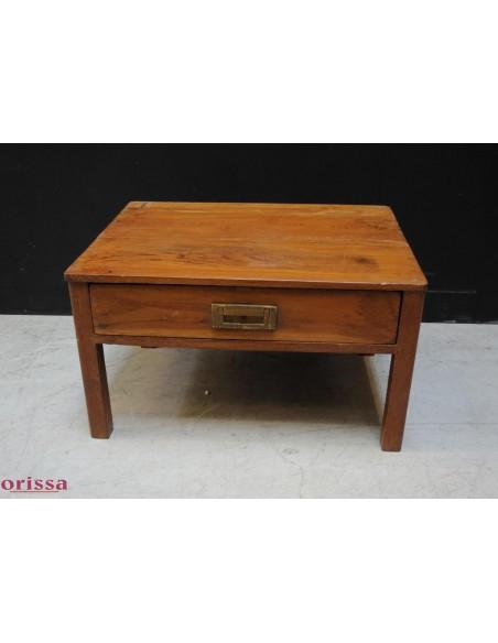 Tavolino in legno di teak con cassetto
