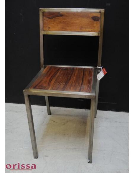 Sedia ferro e legno massello