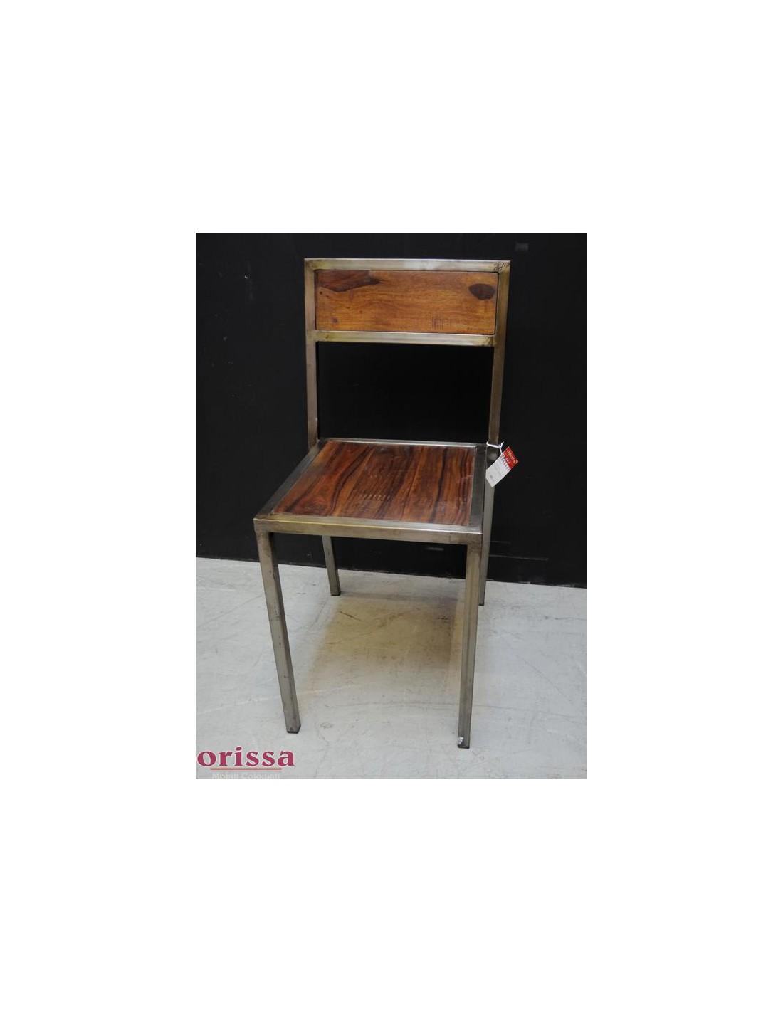 Sedia ferro e legno massello L2P1 - Orissa Milano