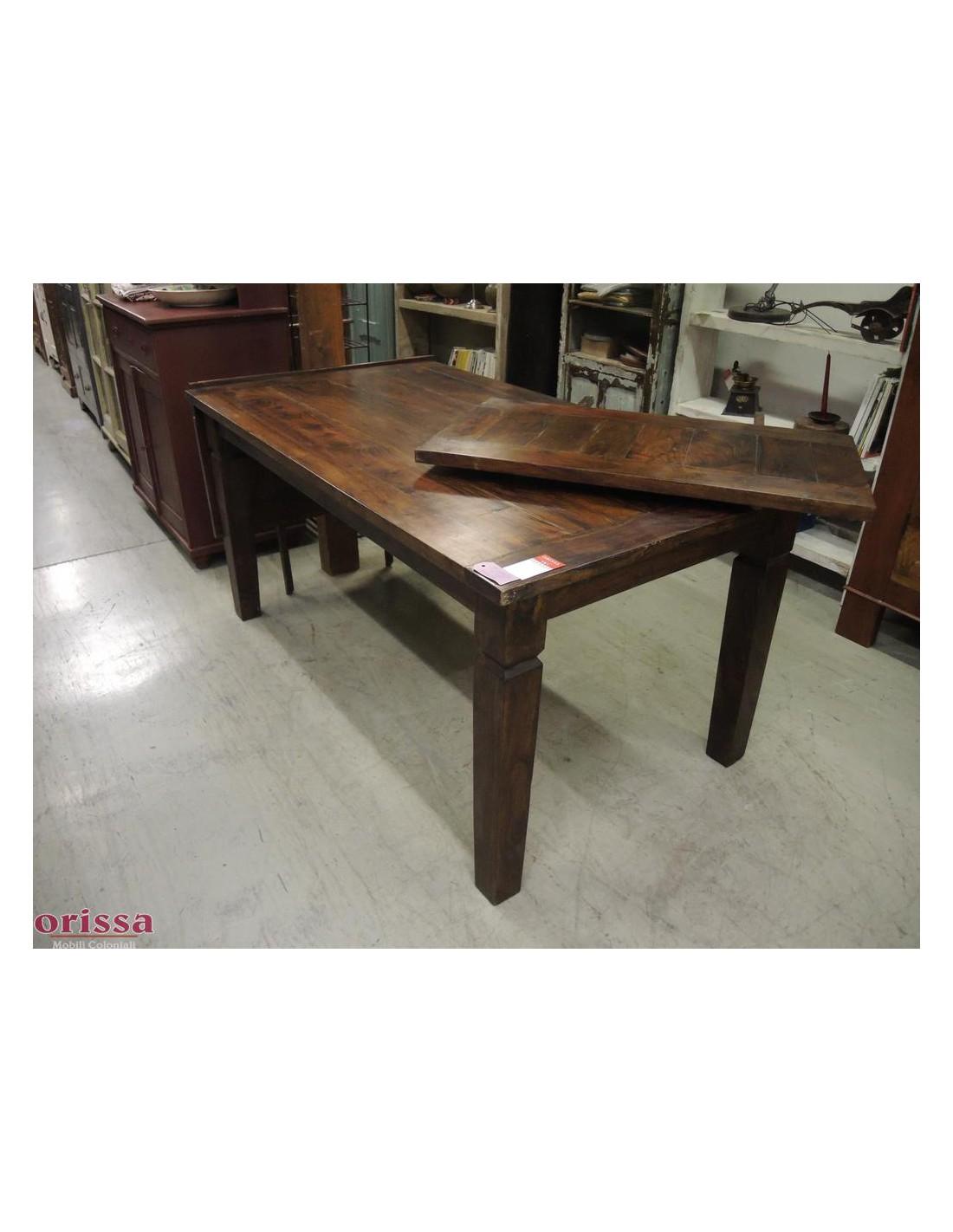 Tavolo legno allungabile 160 260cm cx047 orissa milano for Tavolo estensibile
