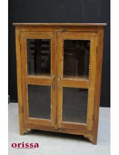 Vetrina coloniale inglese legno di teak