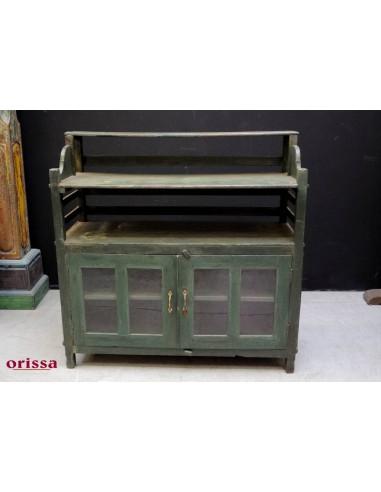 Credenza Verde coloniale con alzata HG85 - Orissa Milano