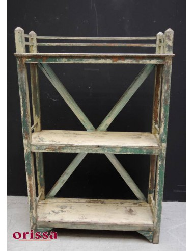 Scaffale shabby verde coloniale