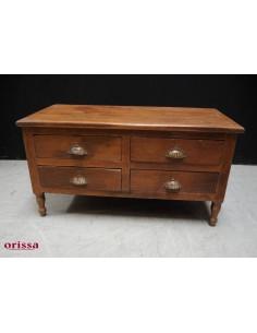 Tavolino comodino con cassetti legno di teak
