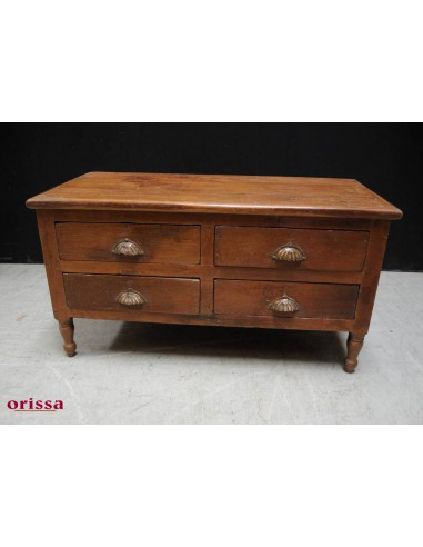 Tavolino comodino con cassetti legno di teak HL43 - Orissa Milano