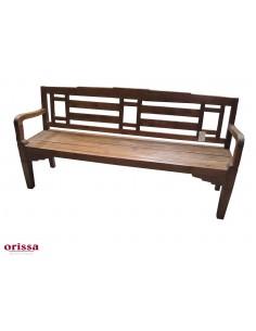 Panca legno di teak con schienale