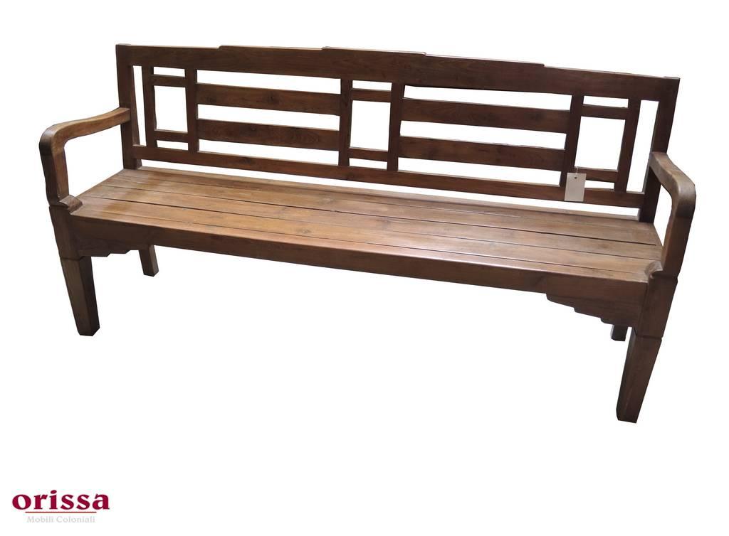 Panca legno di teak con schienale HN46 - Orissa Milano