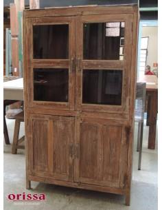 Vetrina legno di teak sbiancato