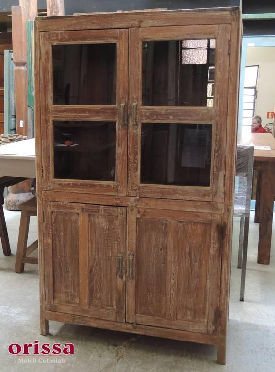 Vetrina legno di teak sbiancato HN18 - Orissa Milano