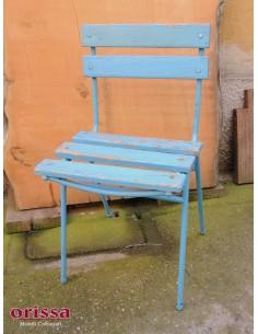 Imagén: Sedia Legno e Ferro azzurra