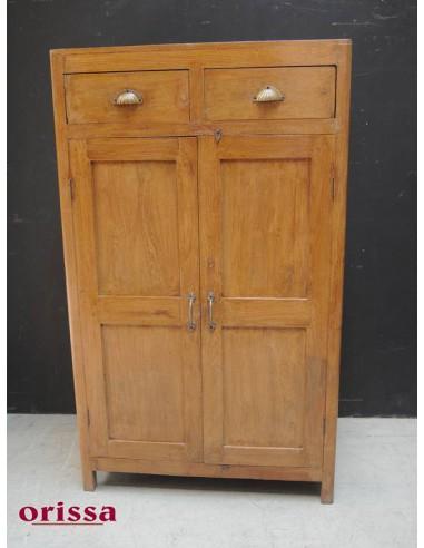 Armadio con cassetti legno di teak coloniale - Orissa Milano