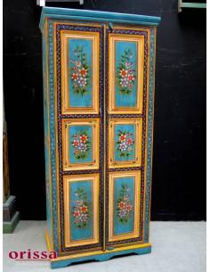Armadio etnico Rajastano decorato